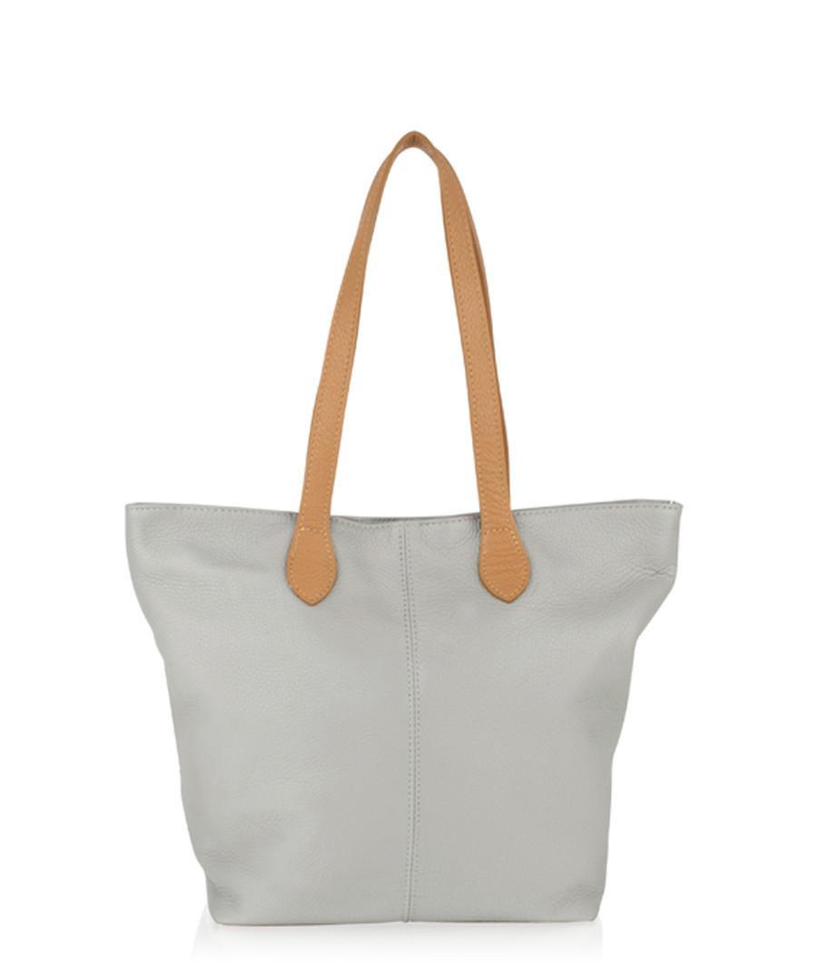 Light grey & brown leather shoulder bag Sale - woodland leathers