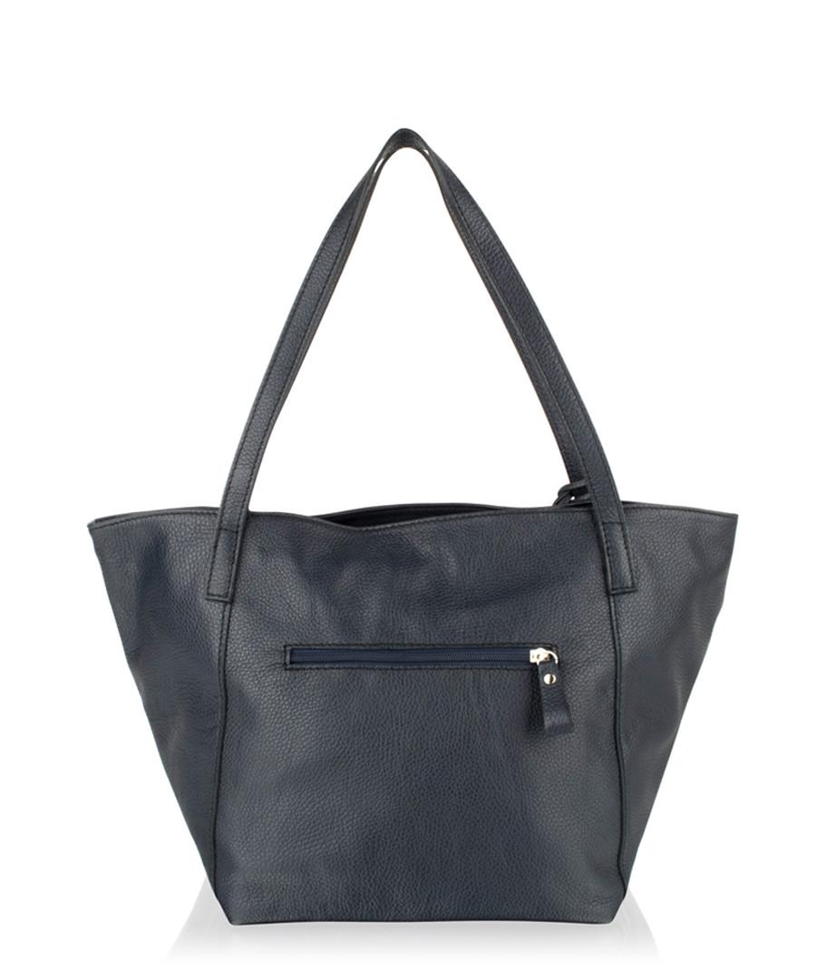 Navy leather shoulder bag Sale - woodland leathers