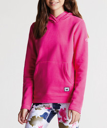 Girls' cyber pink cotton blend hoodie