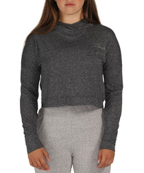 Girls' charcoal mar cotton blend hoodie