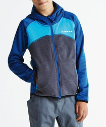 Boys' charcoal zip-up hoodie