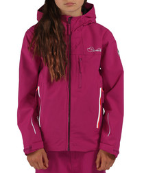 Girls' camellia pur zip-up jacket