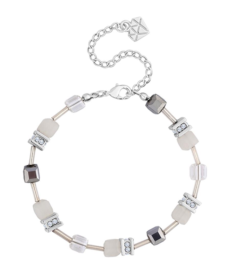 White & silver-tone crystal bracelet Sale - diamond style