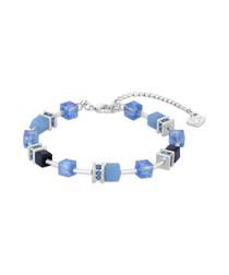 Blue & silver-tone crystal bracelet