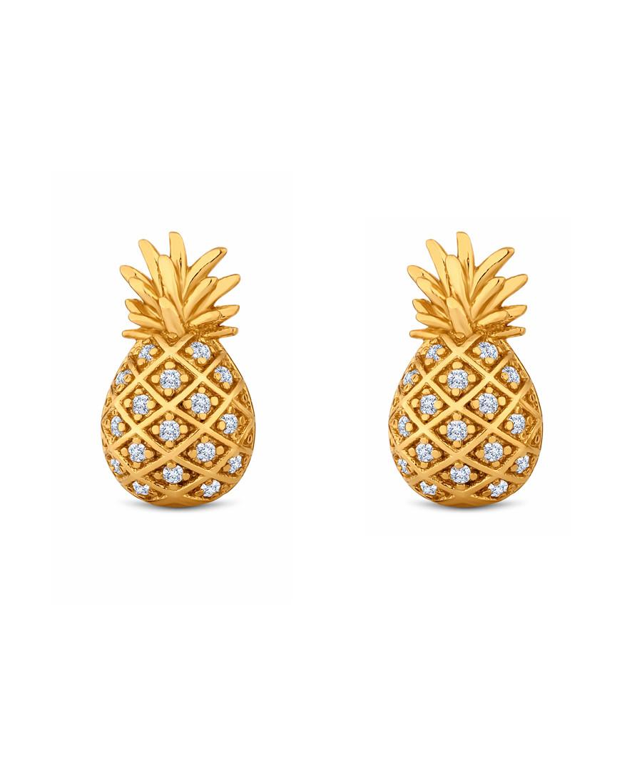 14k gold-plate pineapple stud earrings Sale - diamond style