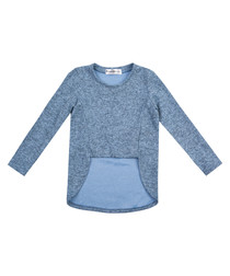 Girl's blue pure cotton sweatshirt