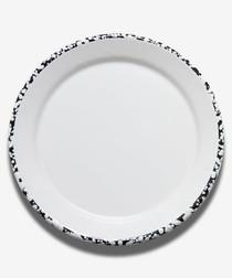 White flat plate 25cm