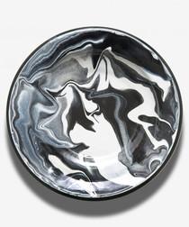 Black marble deep plate 23cm