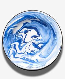 Blue marble deep plate 23cm