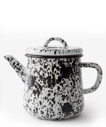 White pattern teapot