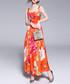 Orange maxi dress Sale - Kaimilan Sale