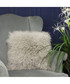 Grey birch real fur cushion 40cm Sale - riva paoletti Sale