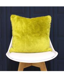 Russ yellow faux fur cushion 45cm