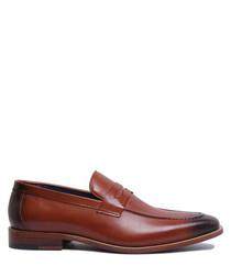 Felix brown leather slip-ons