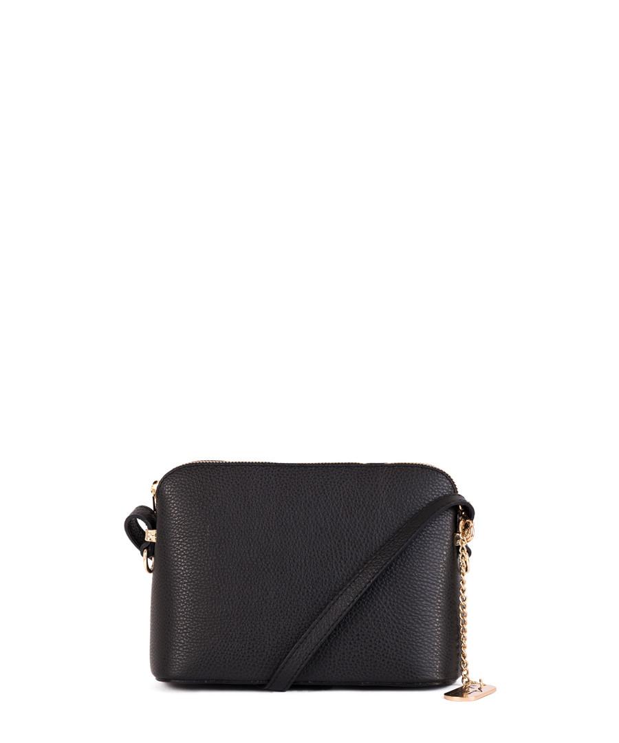 Black leather compact crossbody Sale - anna morellini