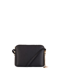 Black leather compact crossbody