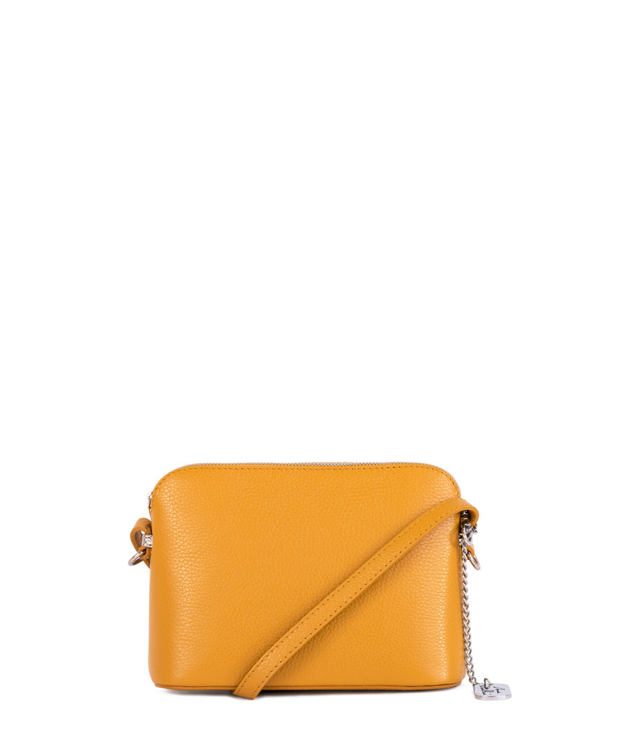 Yellow leather compact crossbody Sale - anna morellini