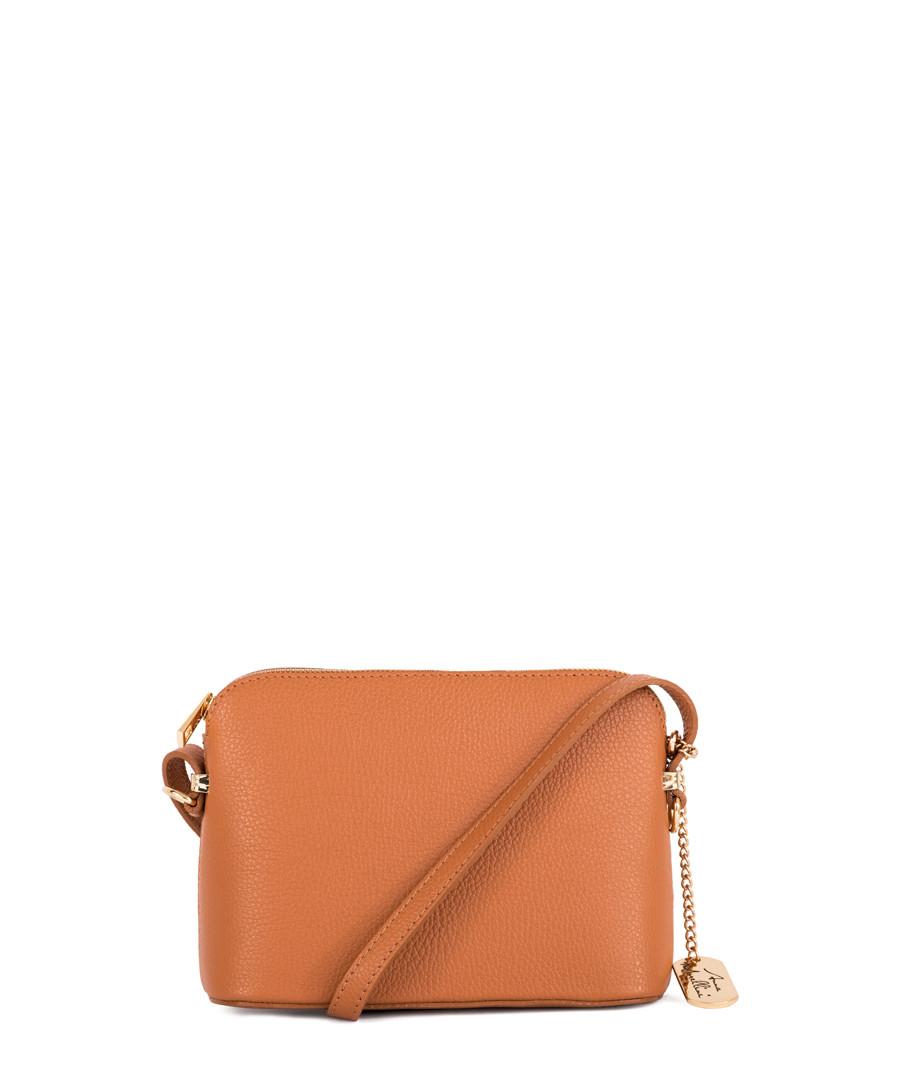 Tan leather compact crossbody Sale - Anna Morellini