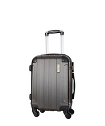 Silver embossed suitcase 66cm