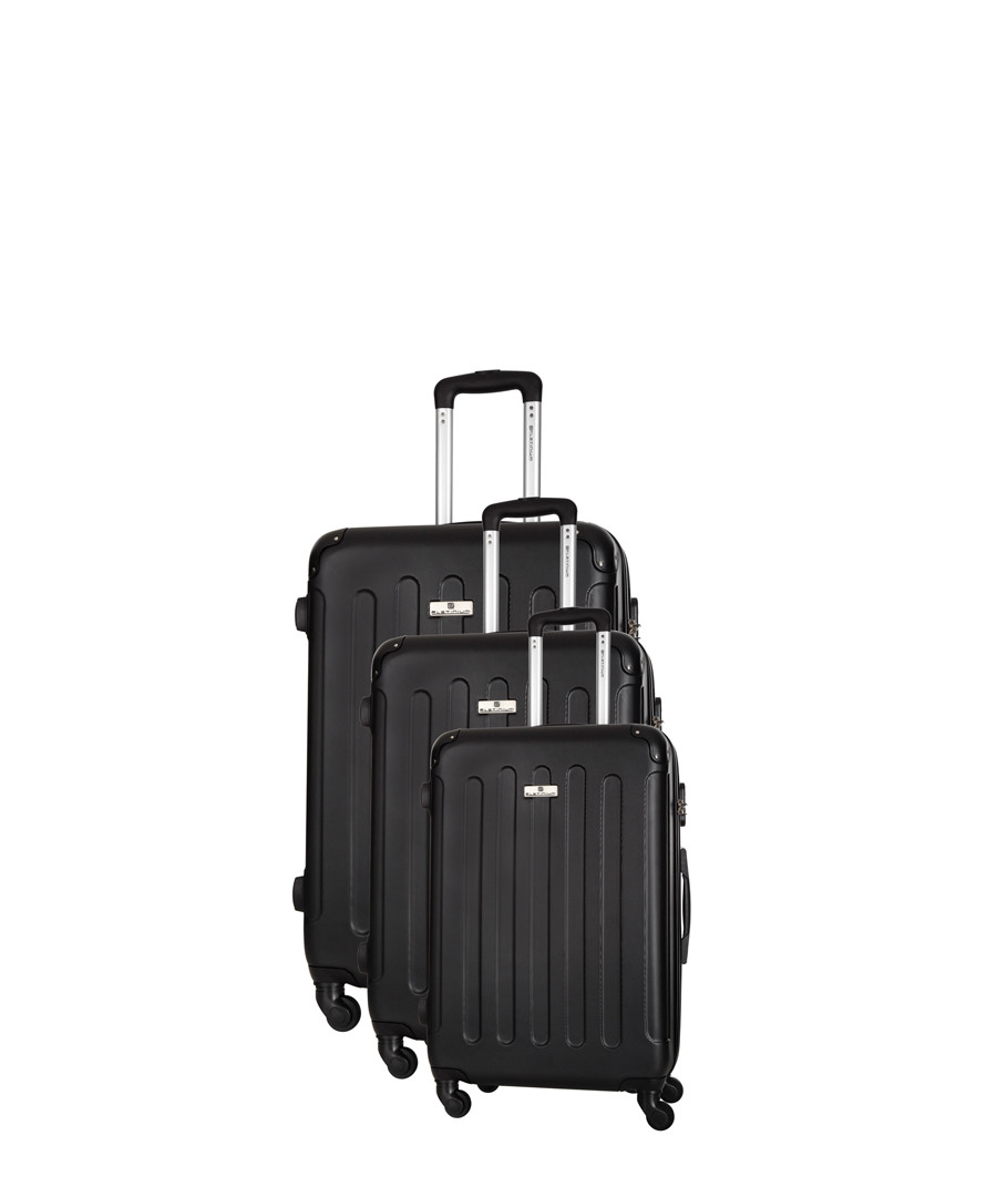 3pc black spinner suitcase nest Sale - platinium