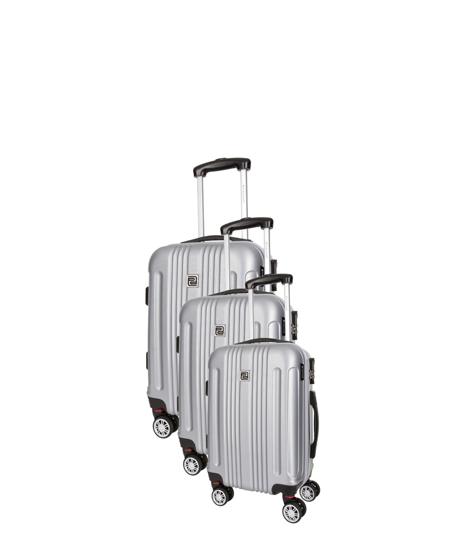 3pc silver spinner suitcase nest Sale - platinium