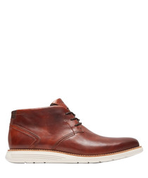 Chukka brown leather ankle boots