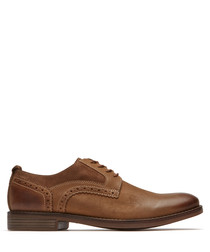 Tobacco brown Derby shoes