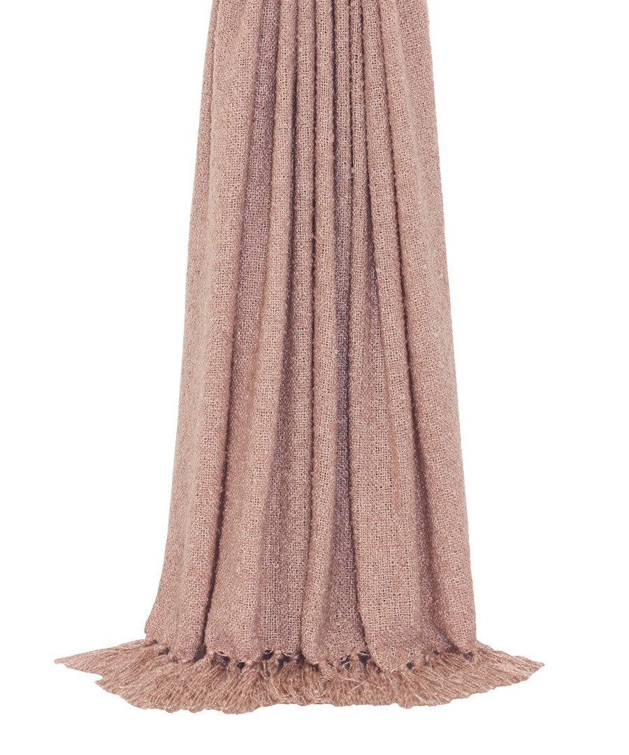 Auriella blush fringed throw 180cm Sale - riva paoletti