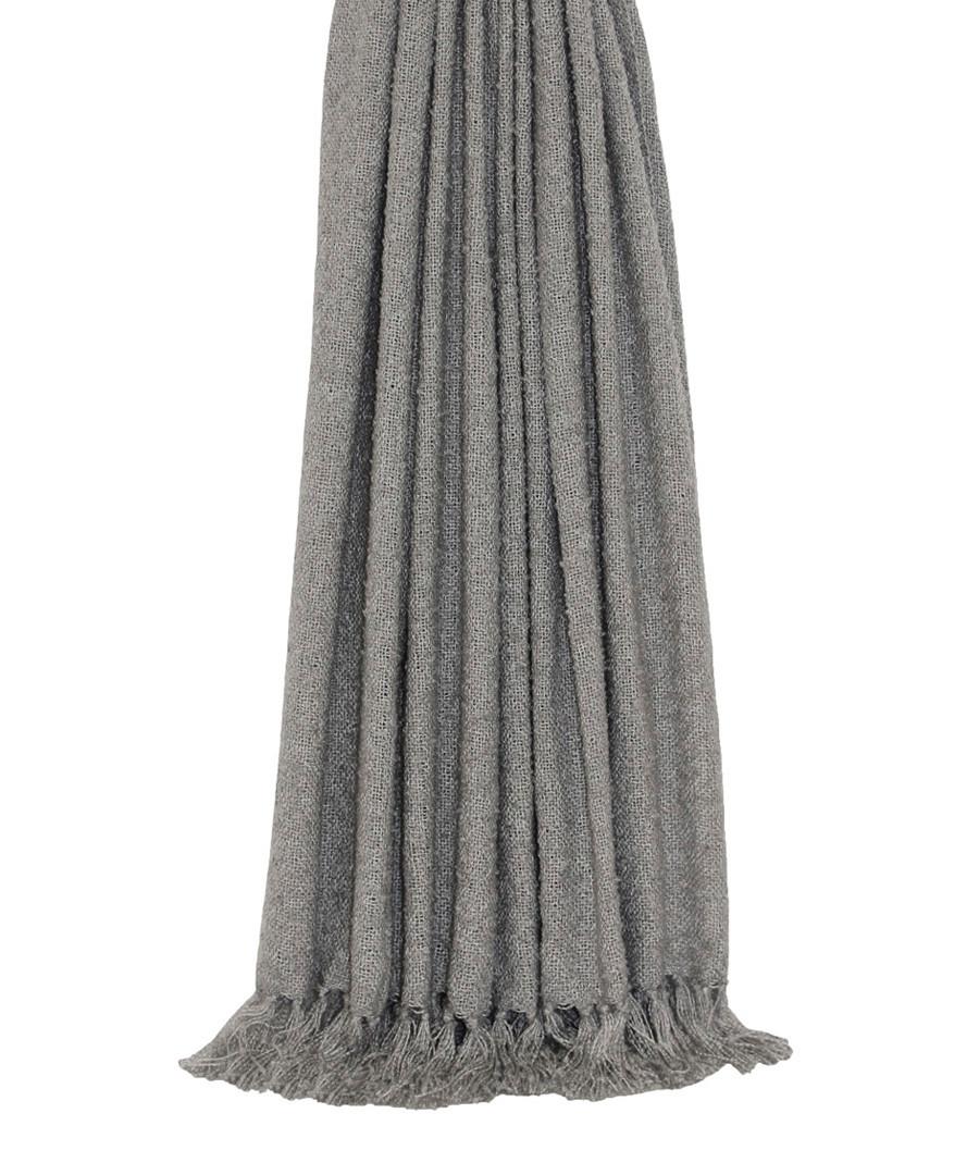 Auriella grey fringed throw 180cm Sale - riva paoletti