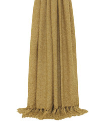 Auriella ochre fringed throw 180cm