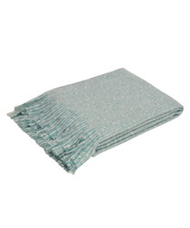 Auriella duck egg fringed throw 180cm