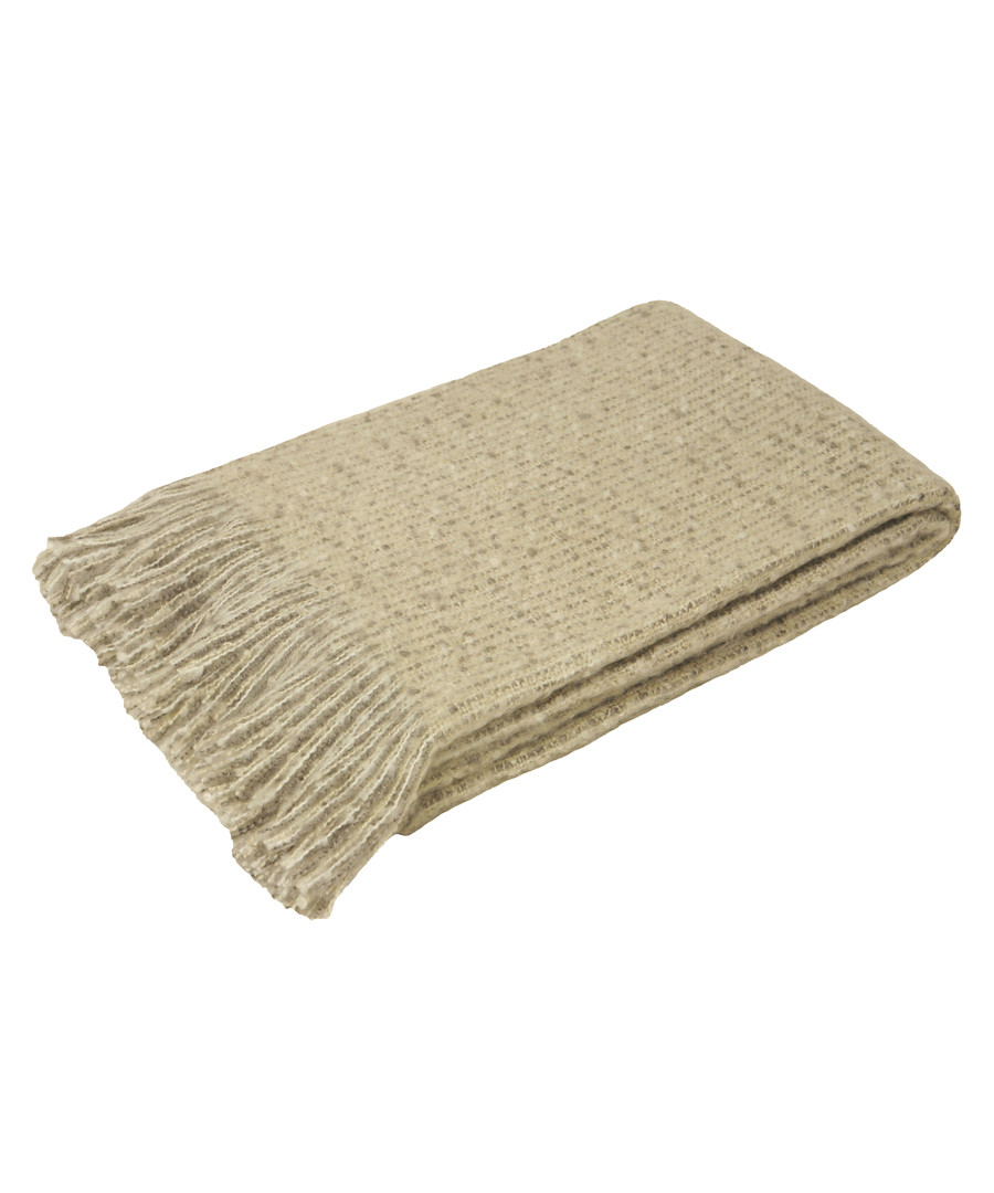 Auriella gold fringed throw 180cm Sale - riva paoletti