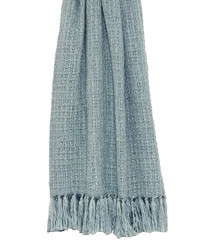 Auriella blue fringed throw 200cm