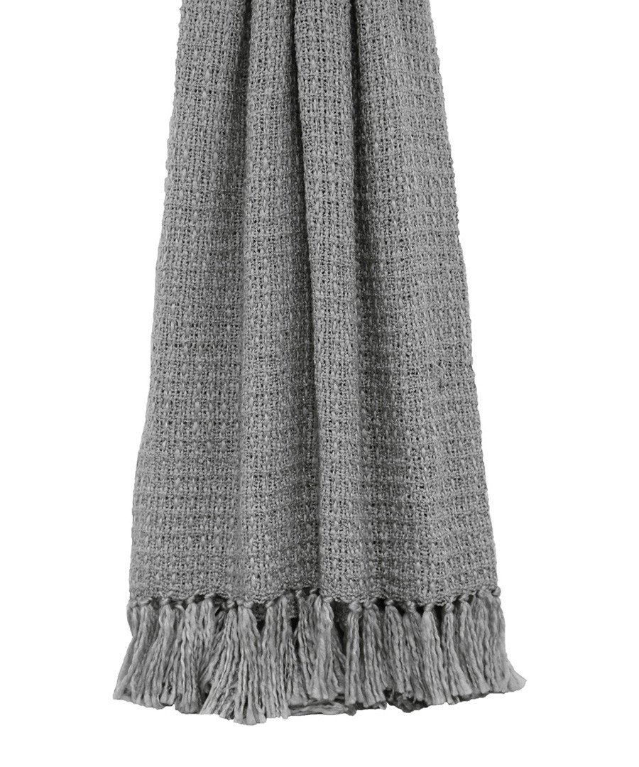 Auriella grey fringed throw 200cm Sale - riva paoletti