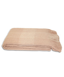 Auriella pink fringed throw 200cm