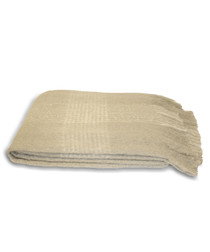 Auriella taupe fringed throw 200cm