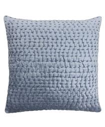 Gawsworth denim weave pattern cushion