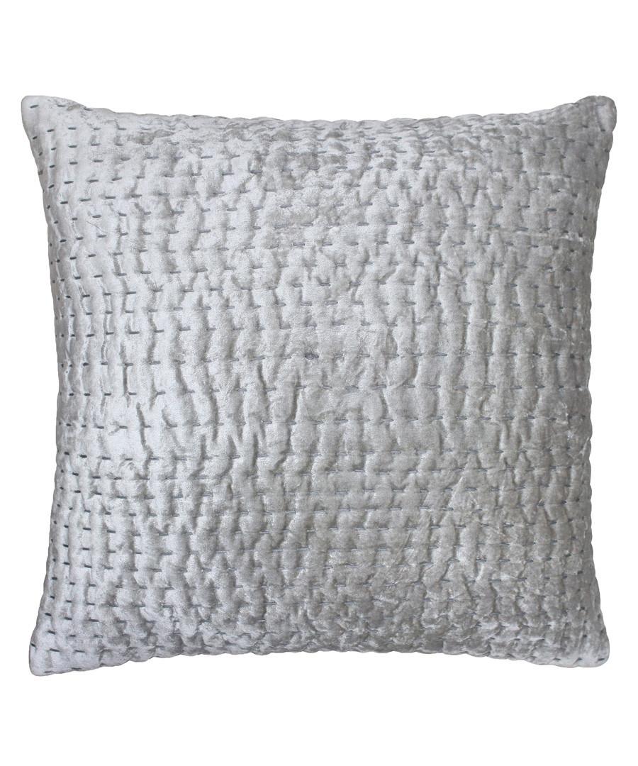 Gawsworth silver weave pattern cushion Sale - riva paoletti