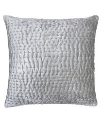 Gawsworth silver weave pattern cushion