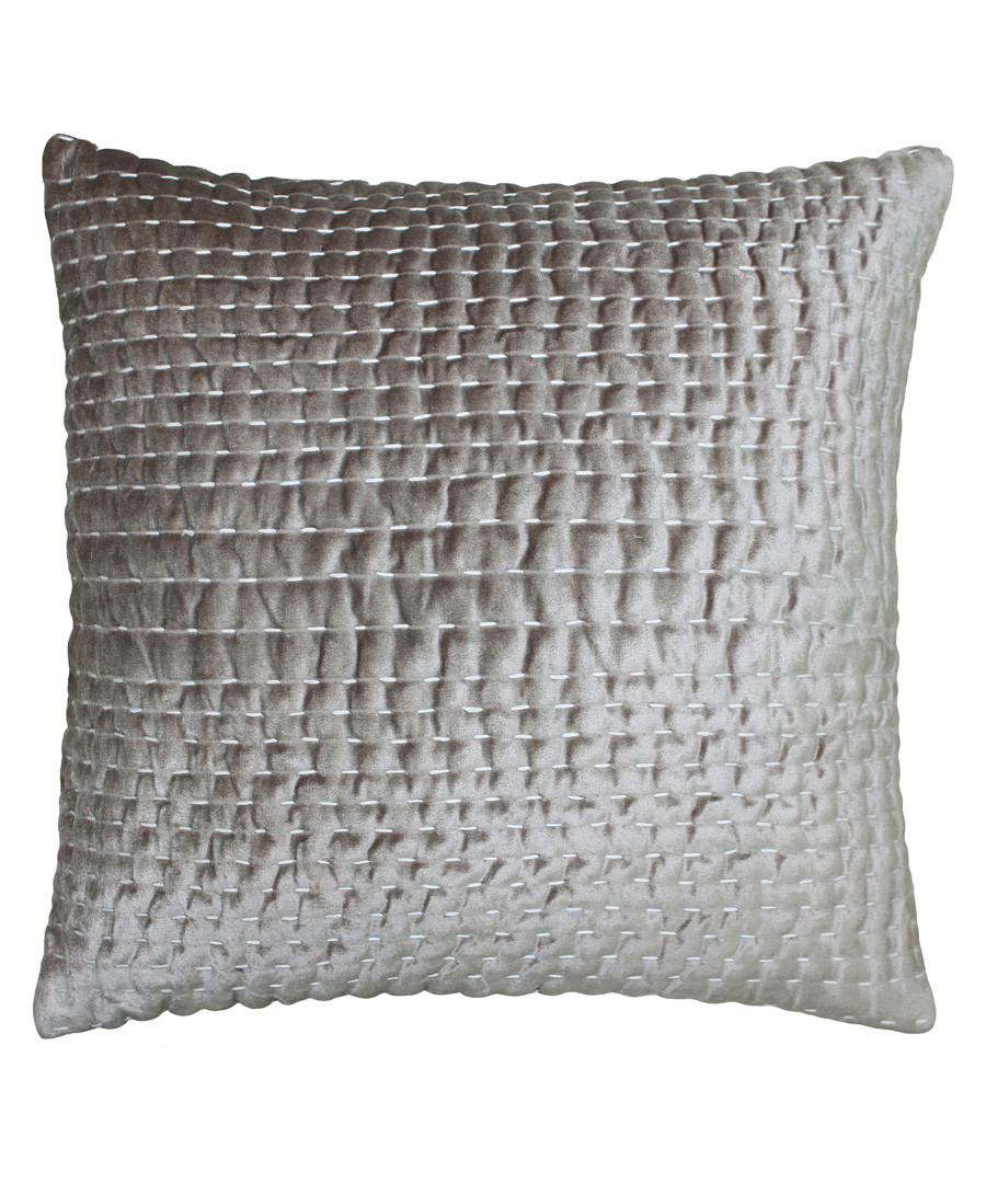 Gawsworth taupe weave pattern cushion Sale - riva paoletti