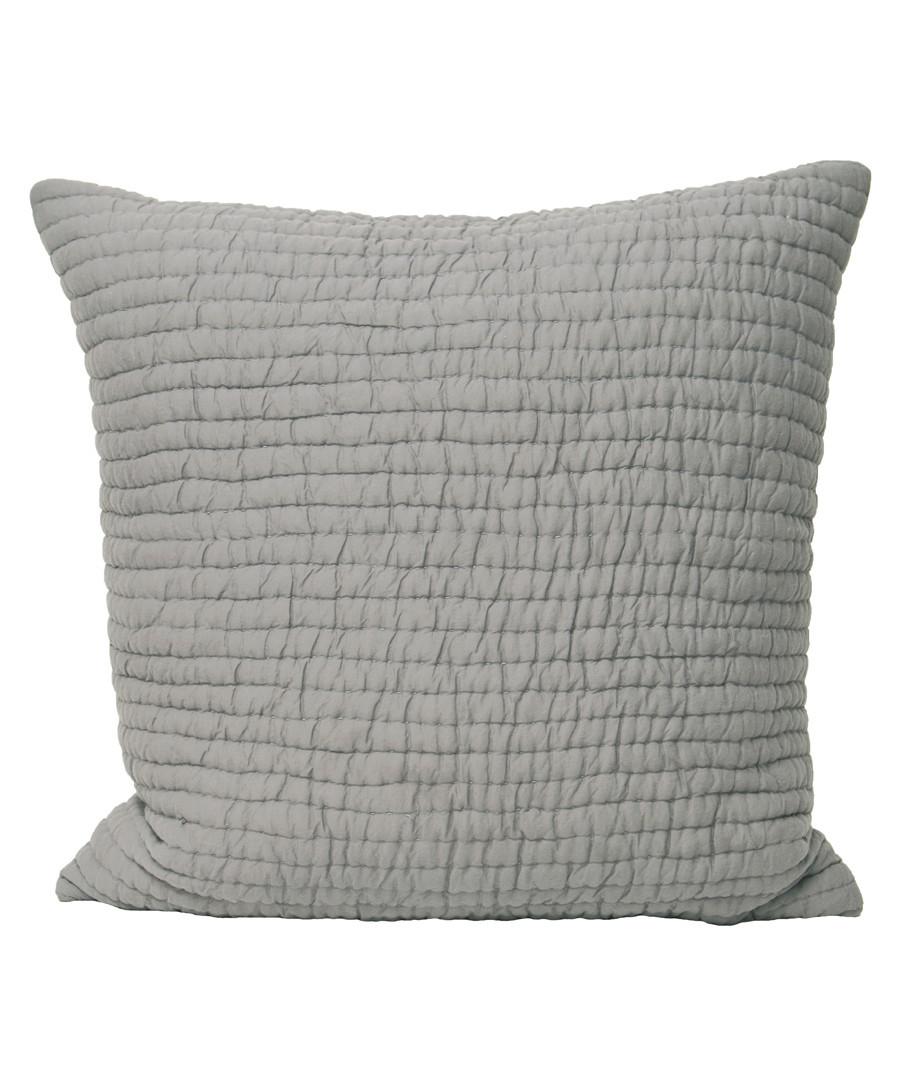 Chalon taupe weave pattern cushion Sale - riva paoletti