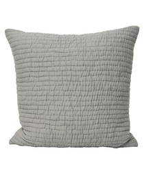 Chalon taupe weave pattern cushion