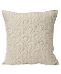 Nimes champagne pattern cushion 55cm