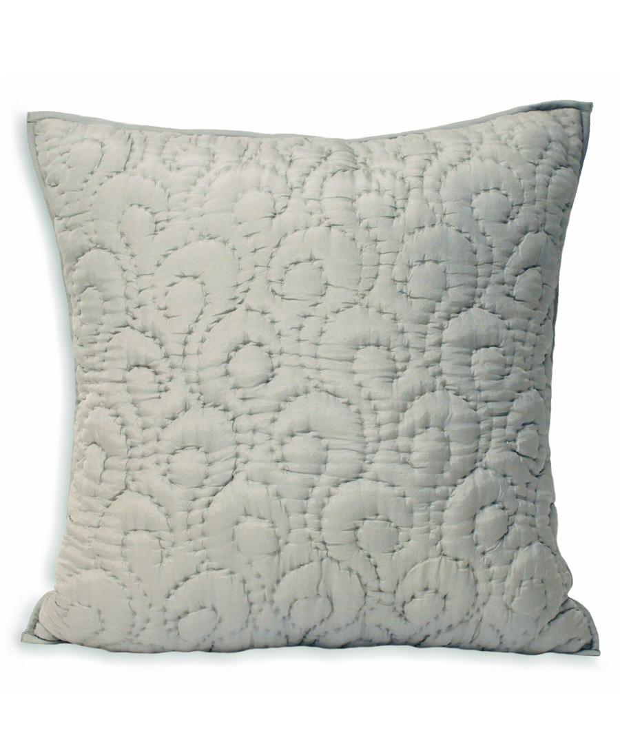 Nimes grey pattern cushion 55cm Sale - riva paoletti