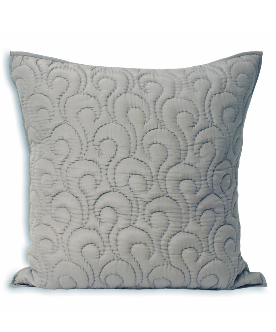 Nimes pewter pattern cushion 55cm Sale - riva paoletti