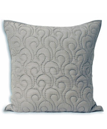 Nimes pewter pattern cushion 55cm