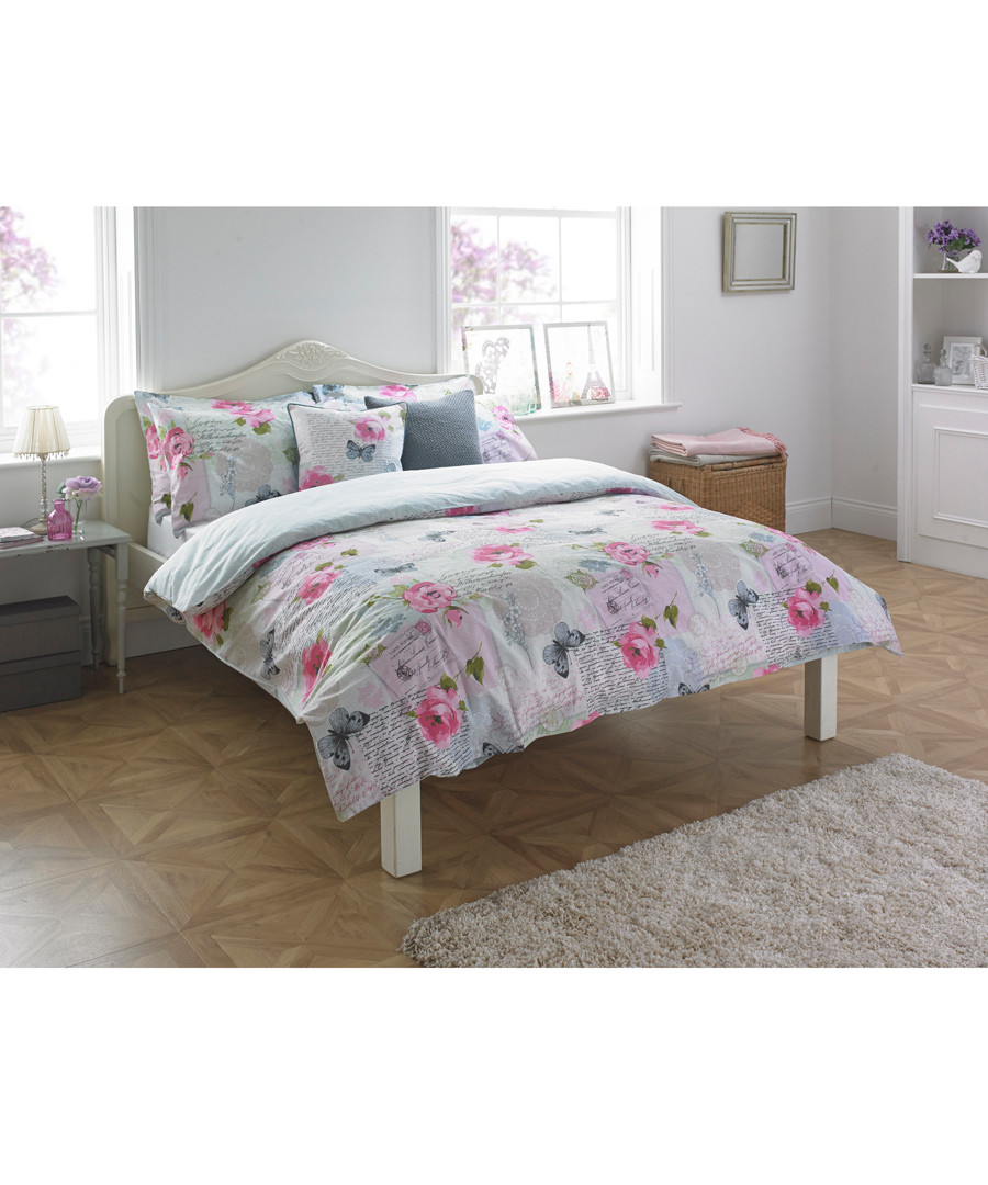 Rosebery flower double duvet set Sale - riva paoletti