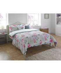 Rosebery flower king size duvet set