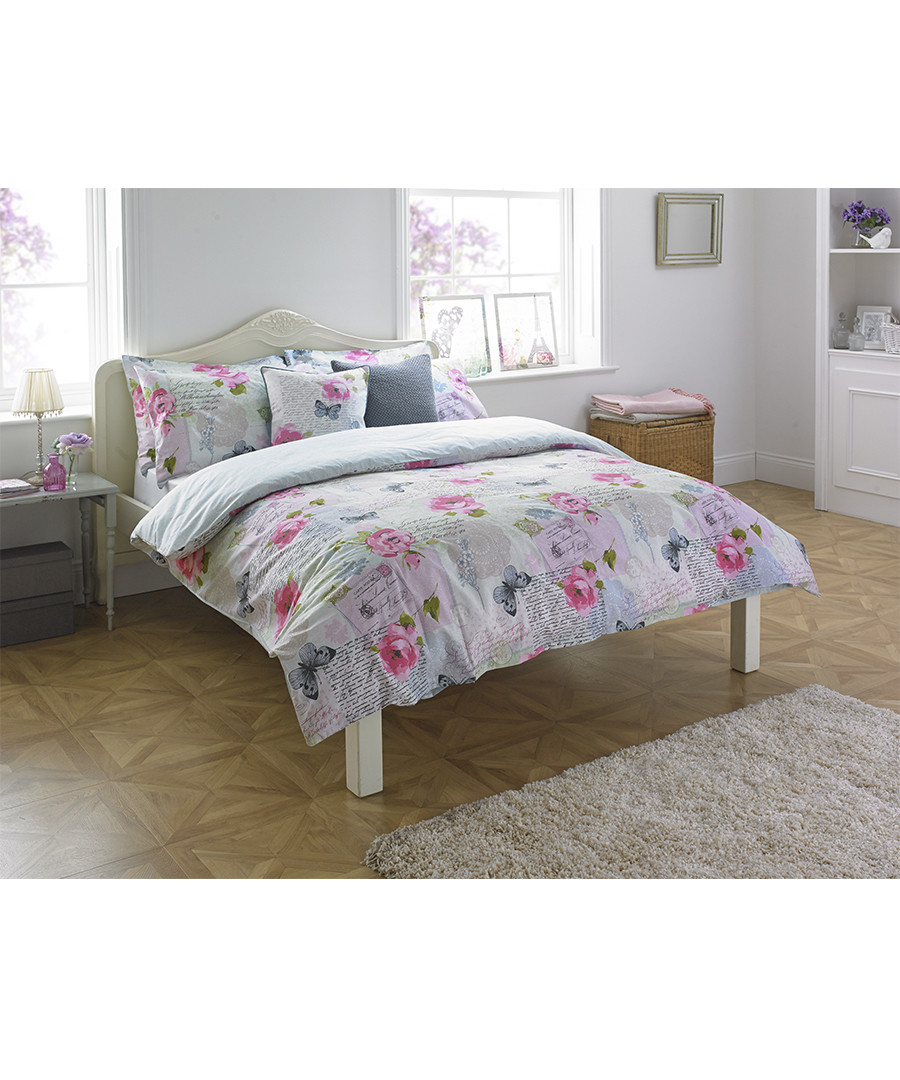 Rosebery flower s.king size duvet set Sale - riva paoletti