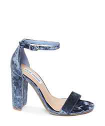 Carrson blue marble high heel sandals